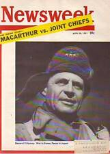 1951 Newsweek April 30 MacArthur's Parade;Truman Booed