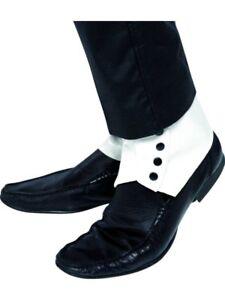 20s 1920s Gangster Spats PVC Fancy Dress Shoe Covers Al Capone Spatz by Smiffys