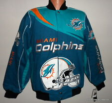Miami Dolphins Kick Off Twill Jacket New Adult - Large -  Free Shipping