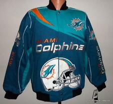 Miami Dolphins Kick Off Twill Blue / Green Jacket Adult Medium Free Shipping