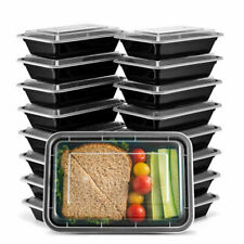 50Pc Meal Prep Food Containers with Lids, Reusable Microwavable Plastic Bpa free