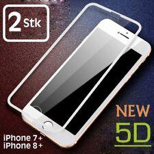 2x 5D Schutzglas iPhone 7 PLUS iPhone 8 PLUS Panzer Folie Glas Display 9H WEISS