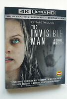 The Invisible Man 4K Ultra HD Blu Ray with Slipcover Elisabeth Moss Thriller NWT