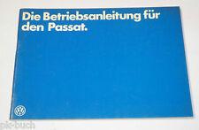 Betriebsanleitung Handbuch VW Passat B1 Benzin / Diesel, Stand 01/1979