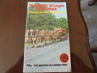 DONCASTER RACE CARD 1982 ST LEGER MEETING -  THE ST LEGER & TOUCHING WOOD