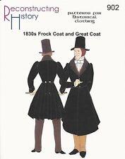 Schnittmuster RH 902: 1830s Frock Coat and Great Coat