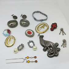 Vintage Art Deco Antique Victorian Jewelry Lot Sterling Mexican Indian +