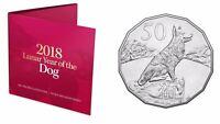 2018 Royal Australian Mint Tetra-Decagon 50c Coin - Year of the Dog