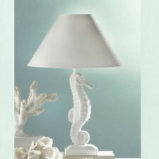 "White Seahorse 20.5"" Nautical Table Lamp"