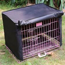 """Dog Crate Pet Cage Kennel COVER Quiet Time Breathable 18"""" Size Small Black"""