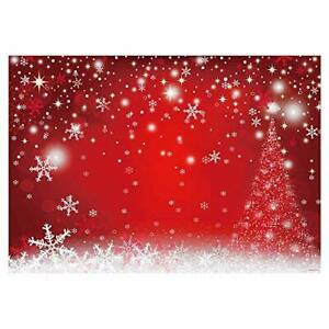 7x5FT Durable Fabric Red Magic Christmas Photography Backdrop Winter 7'x5'