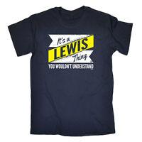 Funny Novelty T-Shirt Mens tee TShirt - Lewis V2 Surname Thing