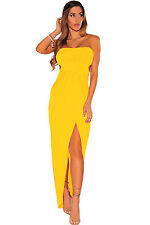 Abito Lungo Spacco Aperto Cerimonia nudo Aderente Coda Party Hollow-out Dress M