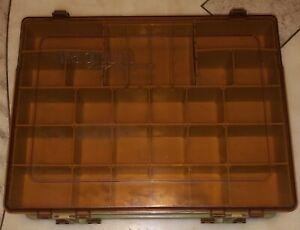 Vintage Plano Magnum 1152 Storage Fishing Tackle Organizer Box Double Sided