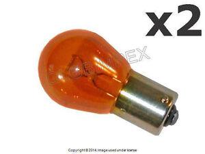 Mercedes Turn Signal Amber Bulb 21w 1156a w/ Straight Pin OSRAM-SYLVANIA NEW (2)