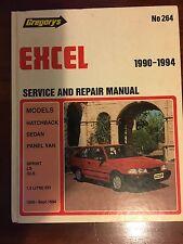 Gregory's Hyundi Excel Service and repair Manual 1990 1994 No 264