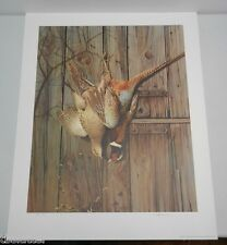 Owen Gromme Pheasants Still Life A/P 7/95 Limited Edition Signed Print