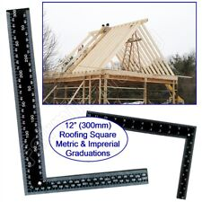 "Metal Roofing Set Square 12""(300mm) x 8""(200mm) Metric Imperial Rafter Tri Wood"