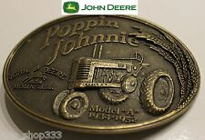 ♈ Raised Graphics Poppin Johnnie John Deere  ♈ Antique Bronze finish Belt Buckle