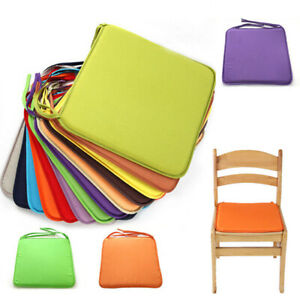 40x40cm Chair Seat Cushion Indoor Outdoor Soft Tie On Chair Pad Home Decor