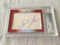 Bart Starr Paul Hornung 2017 Leaf Masterpiece Cut Signature signed card 1/1 JSA