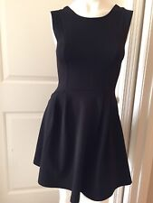 Everly Sz S Black Fit And Flare Pleated Dress