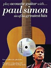 """PLAY ACOUSTIC GUITAR WITH...PAUL SIMON"" MUSIC BOOK/CD BRAND NEW ON SALE RARE!!"
