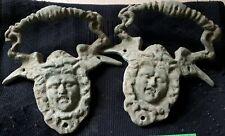 2 handles of antique roman vessels
