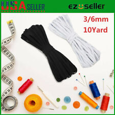 3/6mm Elastic Flat Band Cord String Round Tape For Face Mask DIY Ear Hanging US