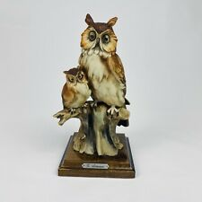 Giuseppe Armani Figurine Sculpture of An Owl with Young Antiques Home Decor