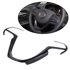 Carbon Fiber Color Steering Wheel Cover Trim Fit for Jeep Grand Cherokee 2014-18