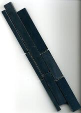 Marmor Mosaik Bordüre Platte Fliese schwarz untersch. Breiten, 5,8x28,9x0,8cm