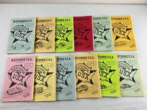Vintage Complete 1984 Matchbox USA Club Publication Toy Collectors Booklets