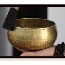 Copper Crafted Gilt Yoga Singing Bowl Buddhism Tibetan Chakra Meditation AU