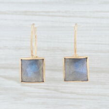 New Nina Nguyen Labradorite Drop Earrings 14k Gold Hook Posts Pierced