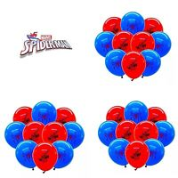 15 X Spiderman Latex Balloons. Super Hero Marvel Avenger Birthday Party Balloons