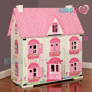 New Rosebud Kids GIRLS Wooden Dolls House Miniature FULL Furniture