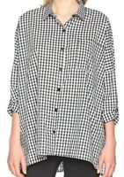 Daisy Street Women's Maria Shirt  Black Gingham SIZE 10 / Medium