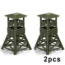 2pcs Military Watch Tower Model Plastic Toy Soldier Army Men Accessories Chic