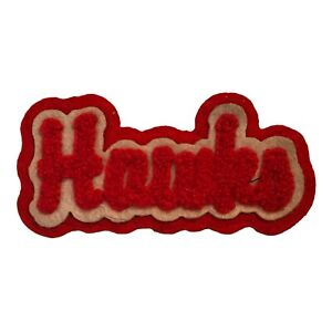 "1972-94 ATLANTA HAWKS NBA BASKETBALL HARDWOOD CLASSICS 3.5"" CHENILLE TEXT PATCH"