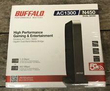 Buffalo AC1300 Air Station N450 Dual Band 5G Wifi Gigabit Dual Media Bridge NEW