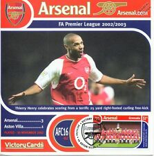Arsenal 2002-03 Aston Villa (Thierry Henry) Football Stamp Victory Card #216