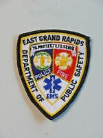 Vintage East Grand Rapids Public Safety Patch Michigan Police, Fire EMS 6398