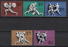 RUSSIA, USSR:1977 SC#B62-B66 MNH Moscow '80 Olympic Wrestling, Judo, Boxing