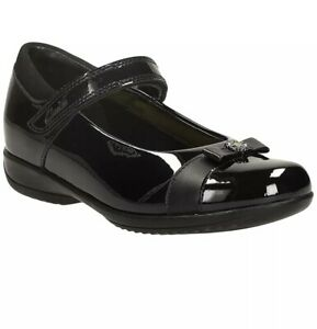 Clarks Infant Clarks Daisy Locket Shoes, Black Patent 10 G