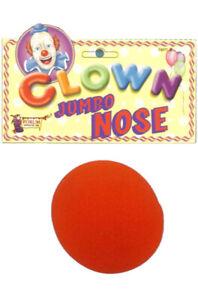 Brand New Jumbo Clown Red Foam Nose Costume Accessory