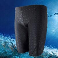 US Men's Sharkskin Swimming Swim Trunks Jammers Racing Training Swimwear L-3XL