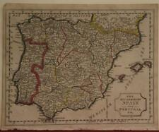 SPAIN PORTUGAL GIBRALTAR 1809 JAMES BARCLAY ANTIQUE COPPER ENGRAVED MAP