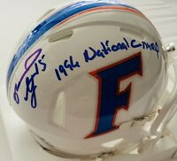Reidel Anthony Autographed Florida Gators 1996 National Champ Mini Helmet COA