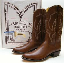 MENS NEW ARMANDO'S RAYMONDVILLE TX BROWN LEATHER COWBOY WESTERN BOOTS 11 B 11B